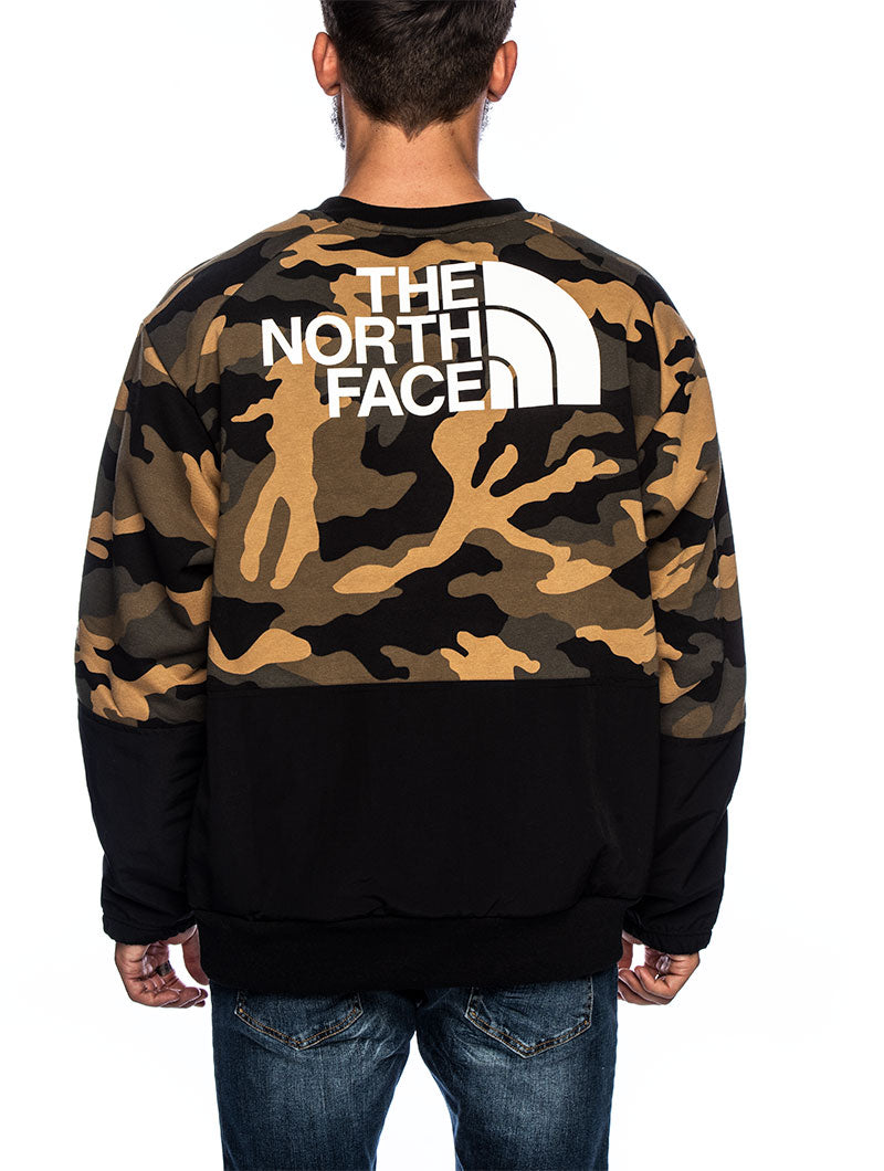NSE GRAPHIC L/S CREW IN GREEN CAMO
