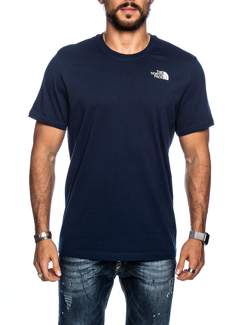 S/S REDBOX TEE IN BLUE