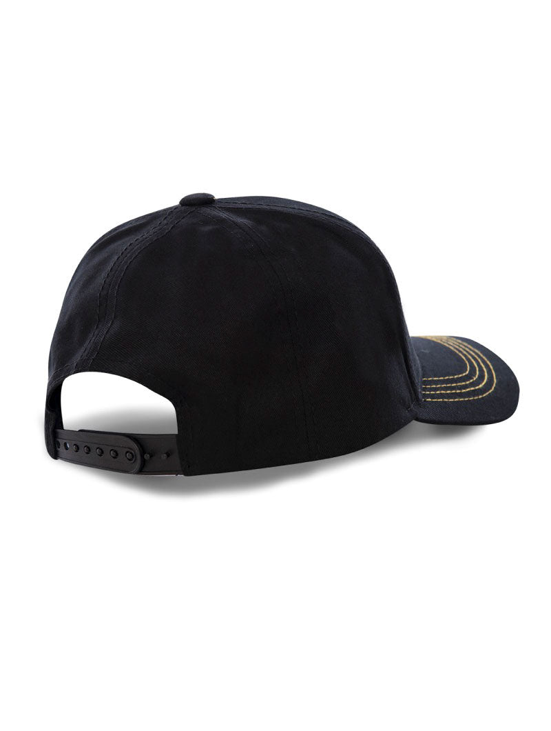 DBZ VEGETA CAP IN BLACK AND YELLOW