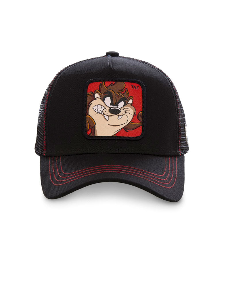 TAZ CAP IN BLACK AND RED