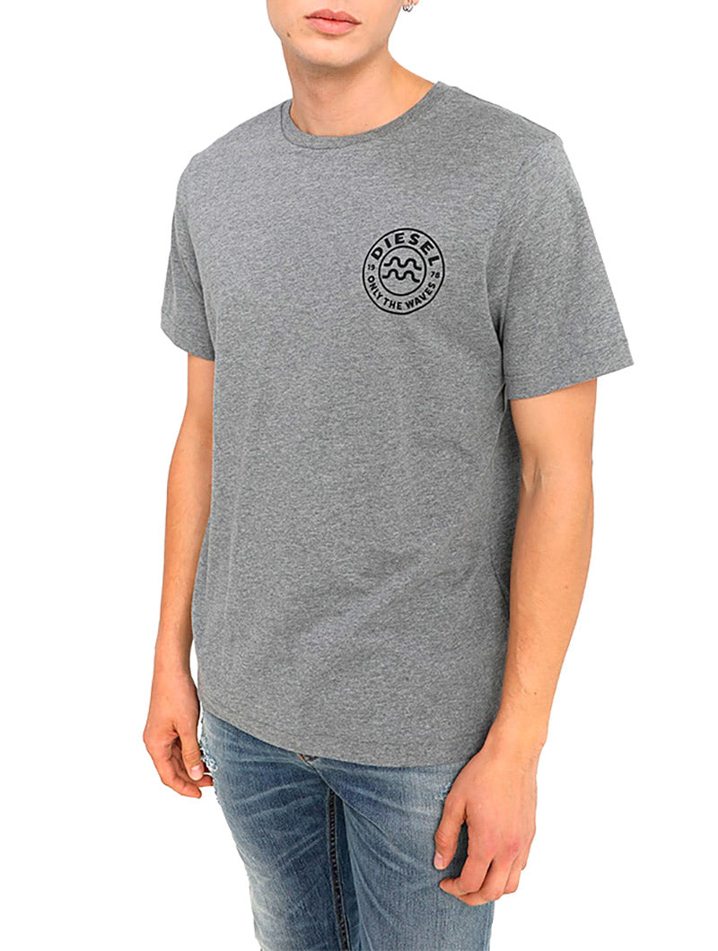 BMOWT-JUST-B PRINTED T-SHIRT IN GREY