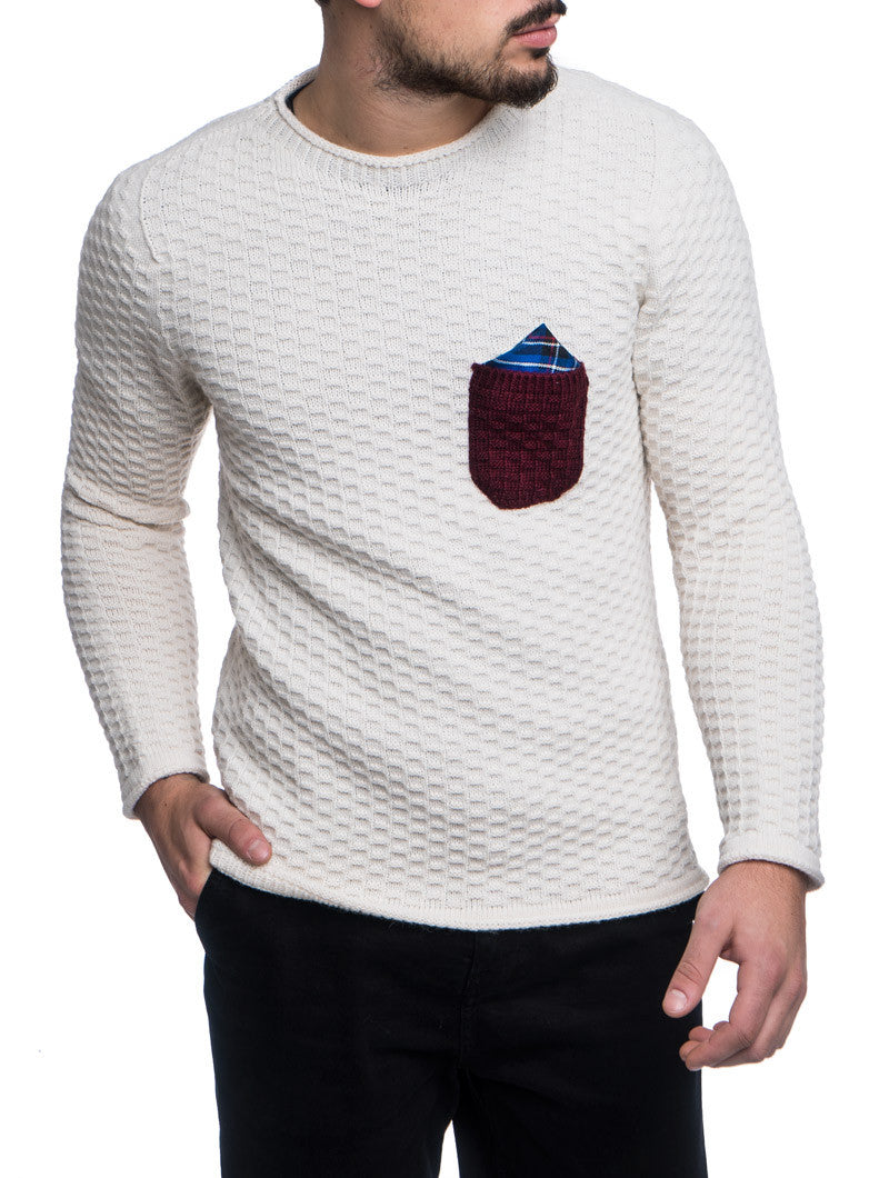 ECRU POCHETTE SWEATER