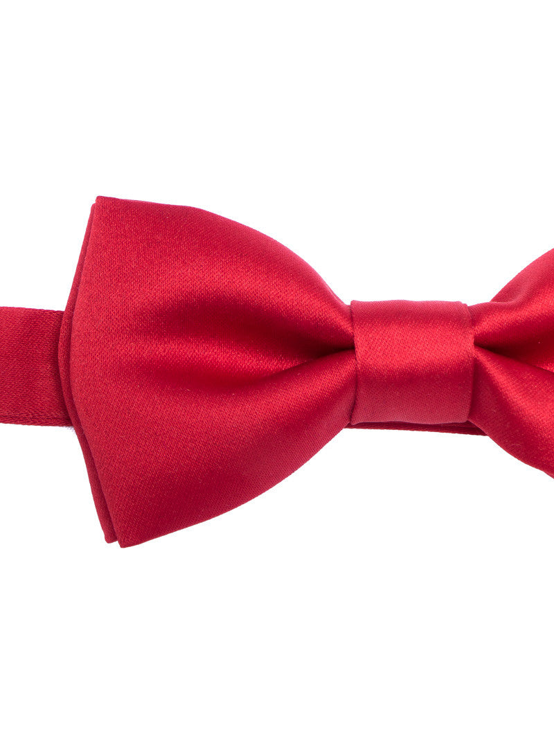 RED SATIN BUTTERFLY BOW TIE