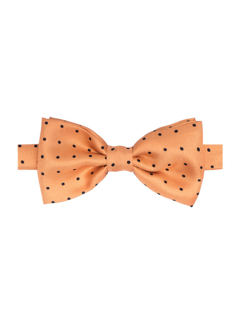 POLKA DOT BOW TIE IN ORANGE