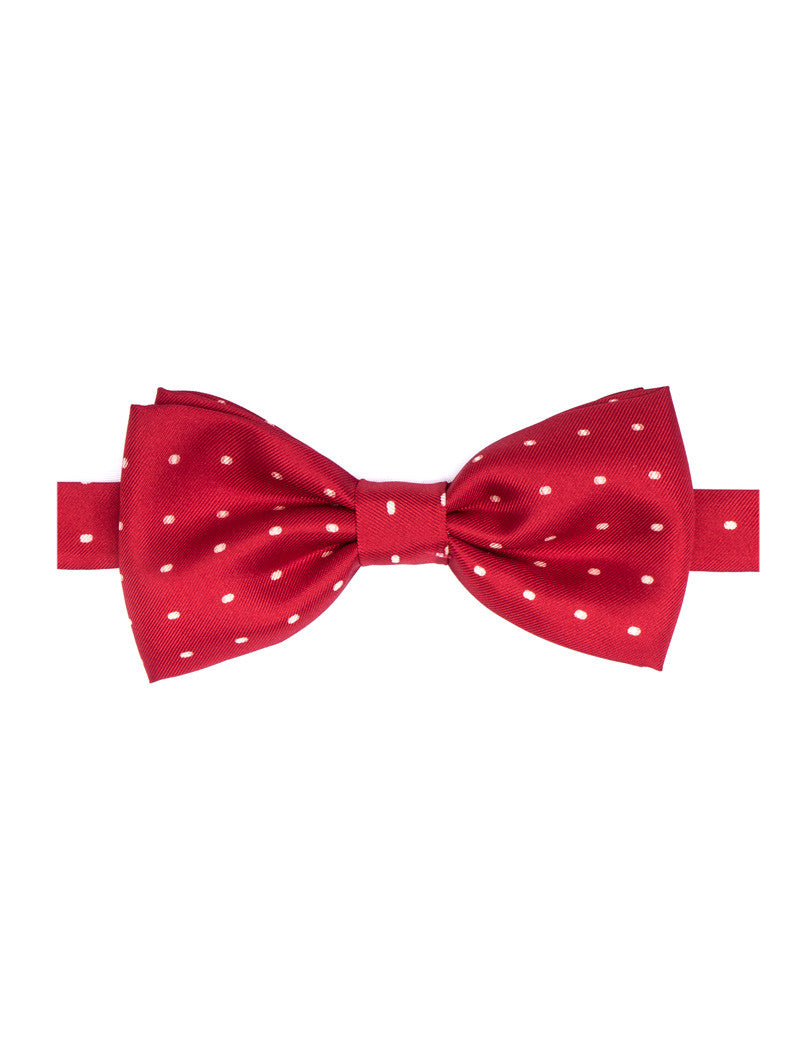 POLKA DOT BOW TIE IN RED