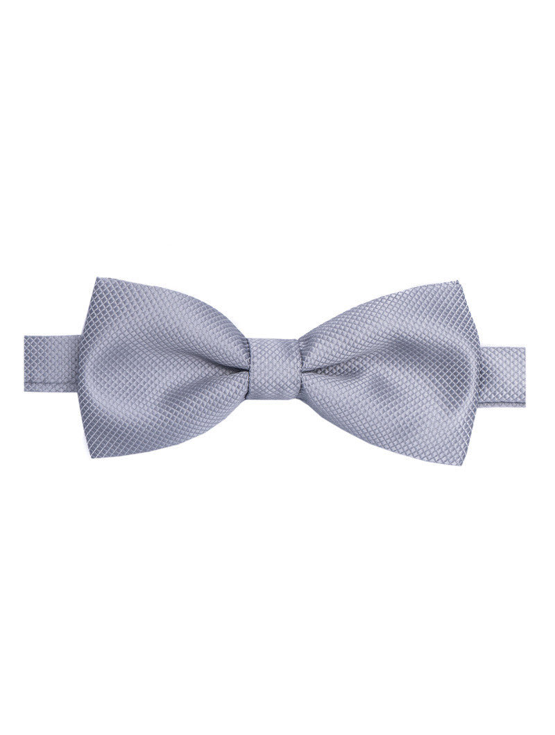 GREY SATIN BUTTERFLY BOW TIE