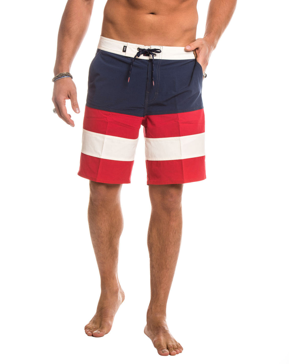 MEN'S CLOTHING | SWIMWEAR | ERA PANEL BOARDSHORTS | DRESS BLUES | RACING RED | TECHNICAL FABRIC | KNEE LENGTH | #SUMMERVIBES | VANS | NOHOW