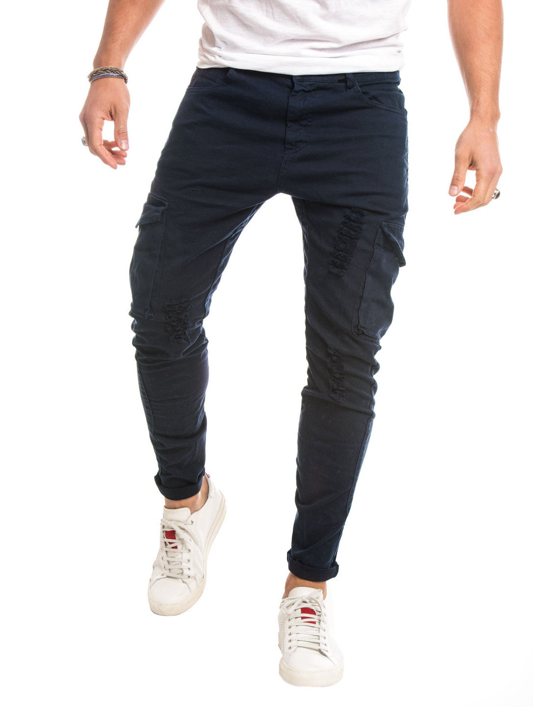 BLUE CARGO GABARDIN PANTS