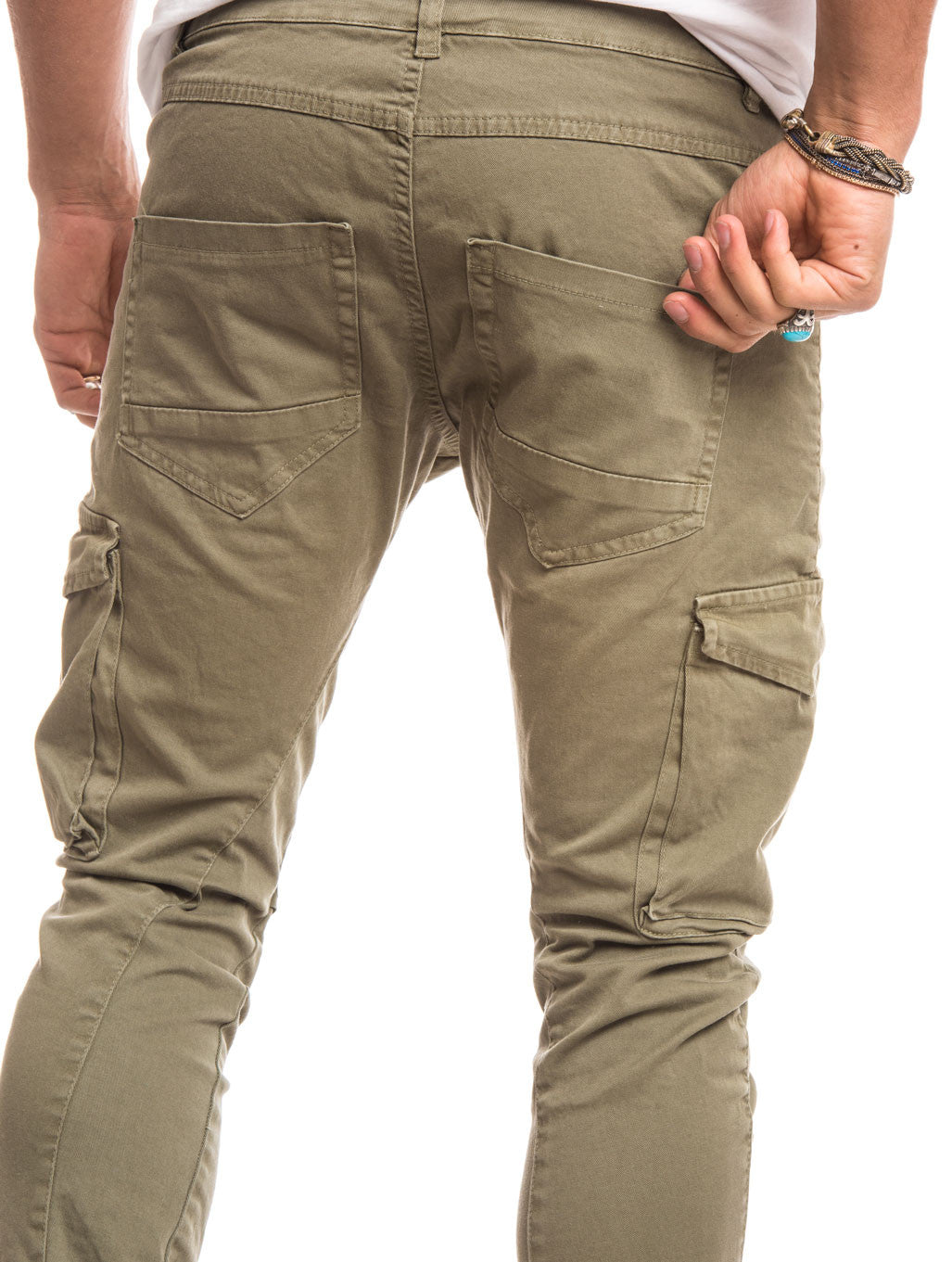 GREEN CARGO GABARDIN PANTS