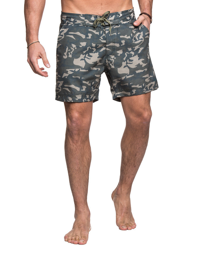 MEN'S CLOTHING | SWIMWEAR | BEACHWEAR | WOOLRICH PRINTED BOARDSHORT | CAMO PRINT | ALL-OVER PRINT | REGULAR FIT | MID-LENGTH | SWIM SHORTS | #SUMMERVIBES | WOOLRICH | NOHOW