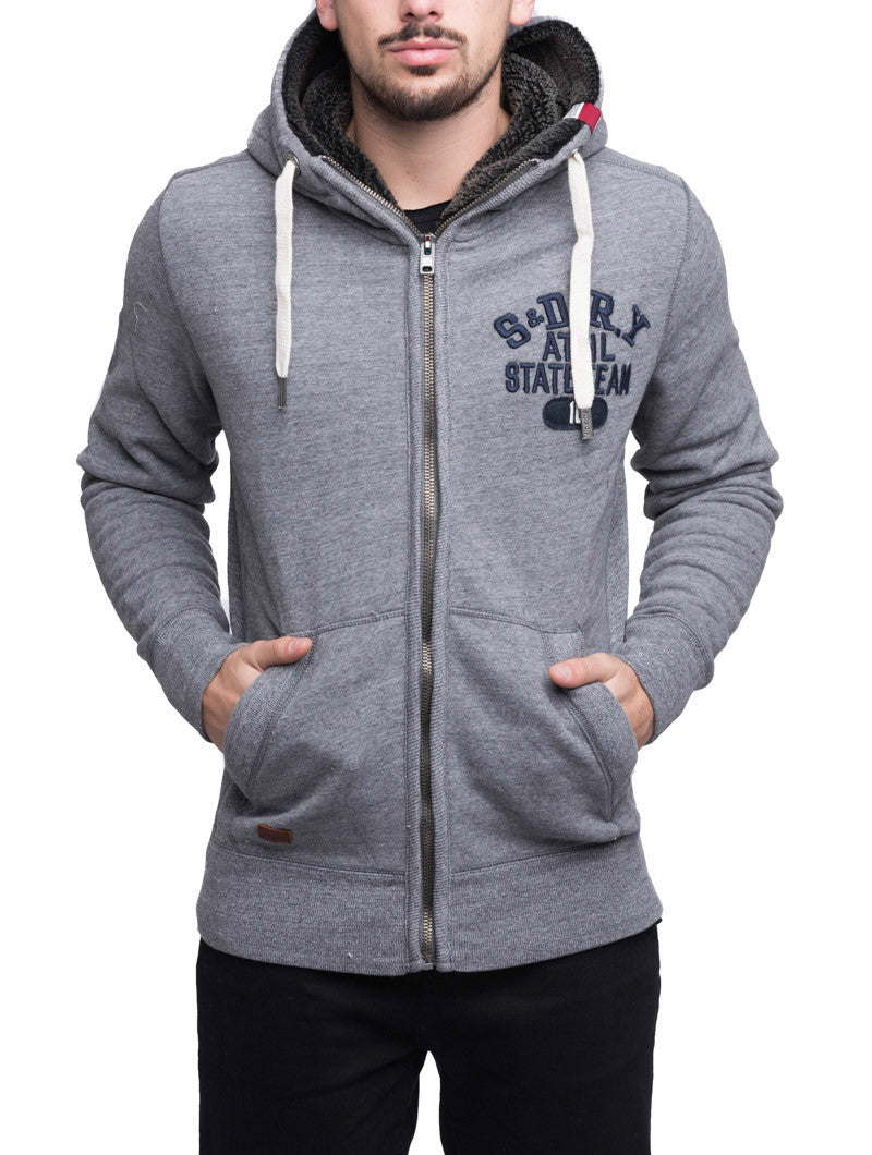 MEN'S SWEATSHIRT | CORE APPLIQUE ZIPHOOD | SUPERDRY