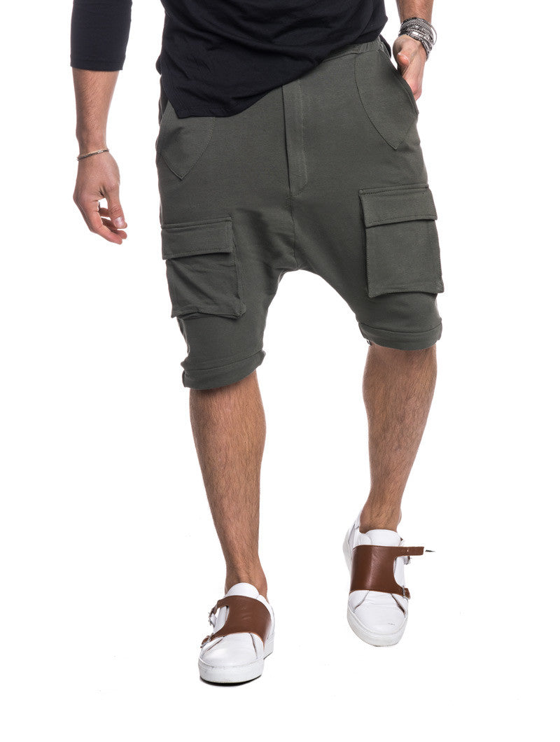 MEN'S CLOTHING | DAVE PANTS | GREEN CARGO TROUSERS | COMBATS | COMBAT TROUSERS | BOTTOMS | COMBAT SHORTS | CONVERTIBLE DESIGN | ZIP-OFF LEG | NOHOW BLACK COLLECTION | NOHOW