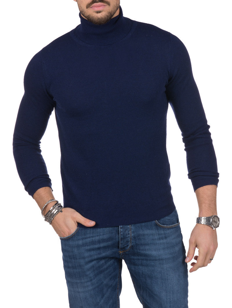 MEN'S CLOTHING | HOLDEN TURTLENECK SWEATER IN BLUE | NOHOW STREET COUTURE