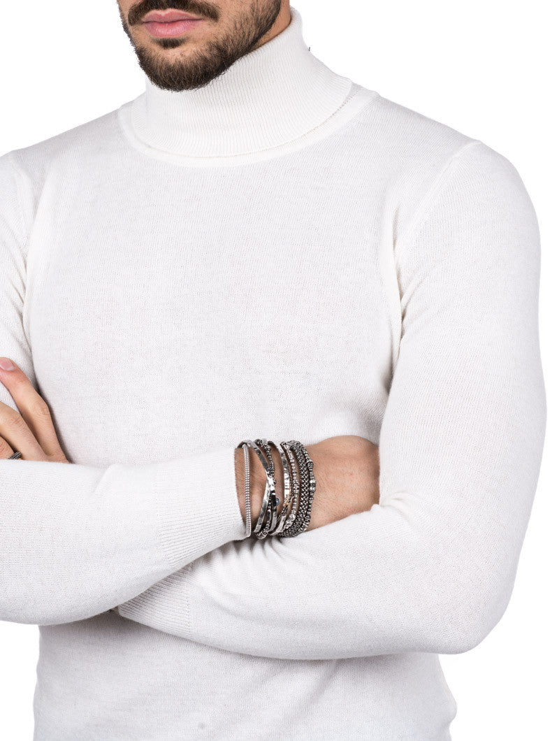 MEN'S CLOTHING | HOLDEN TURTLENECK SWEATER IN WHITE | TURTLENECK | NOHOW STREET COUTURE