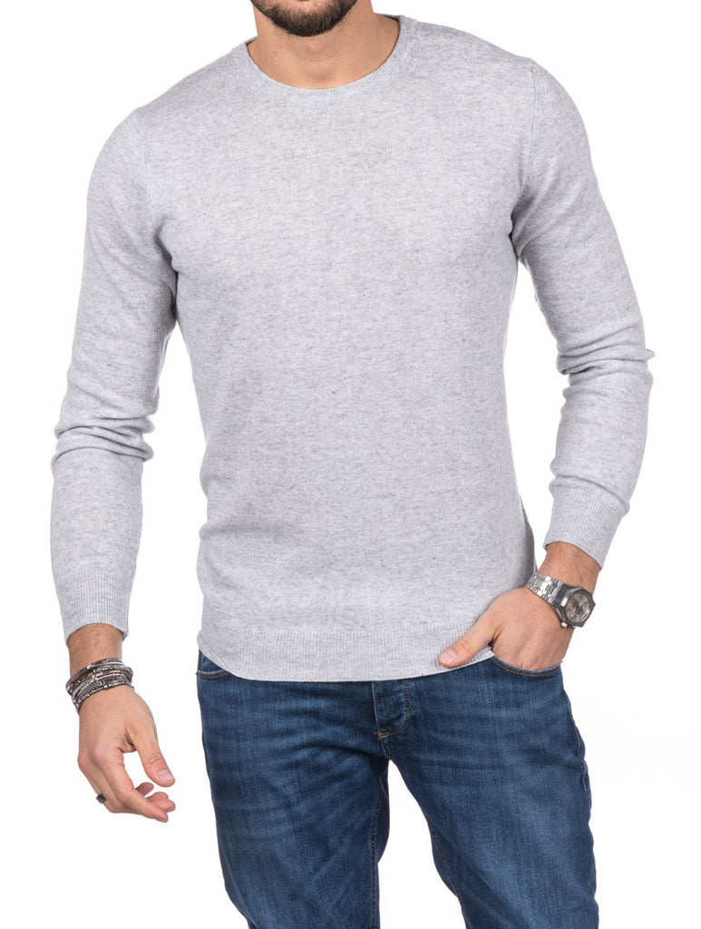 MEN'S CLOTHING | HOLDEN CREWNECK SWEATER IN GREY | MUSCLE FIT | NOHOW STREET COUTURE