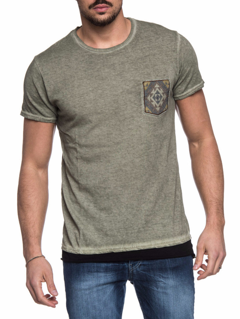 GREEN PATCH T-SHIRT