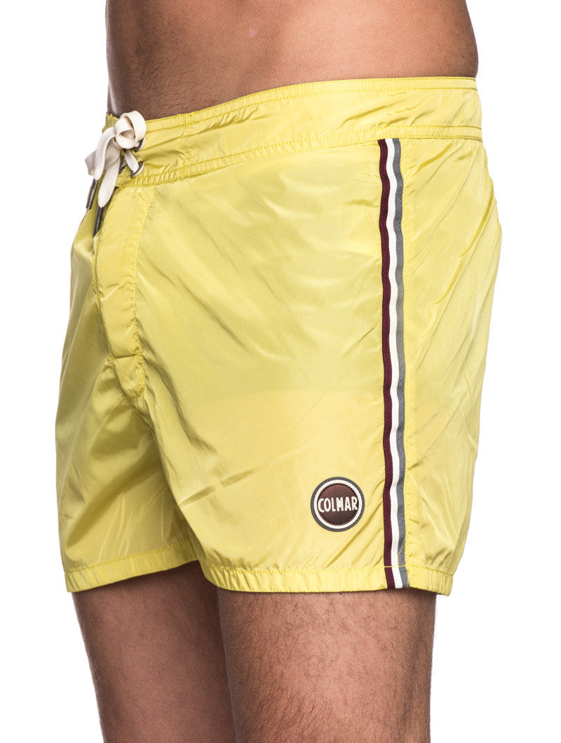 MEN'S CLOTHING | SWIMWEAR | MENS SWIMWEAR SHORTS | TECHNICAL FABRIC | YELLOW | SHORT LENGTH | #SUMMERVIBES | COLMAR | NOHOW