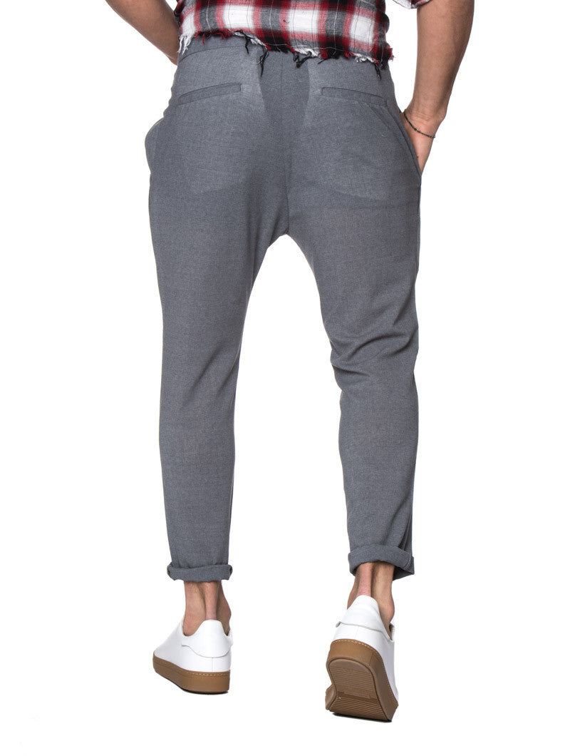 MEN'S CLOTHING | PEARL PANTS | SKINNY | CARROT FIT | SMART TROUSERS | GREY | TAPERED LEG | MEN'S BOTTOMS | WOOL | NOHOW STREET COUTURE | NOHOW