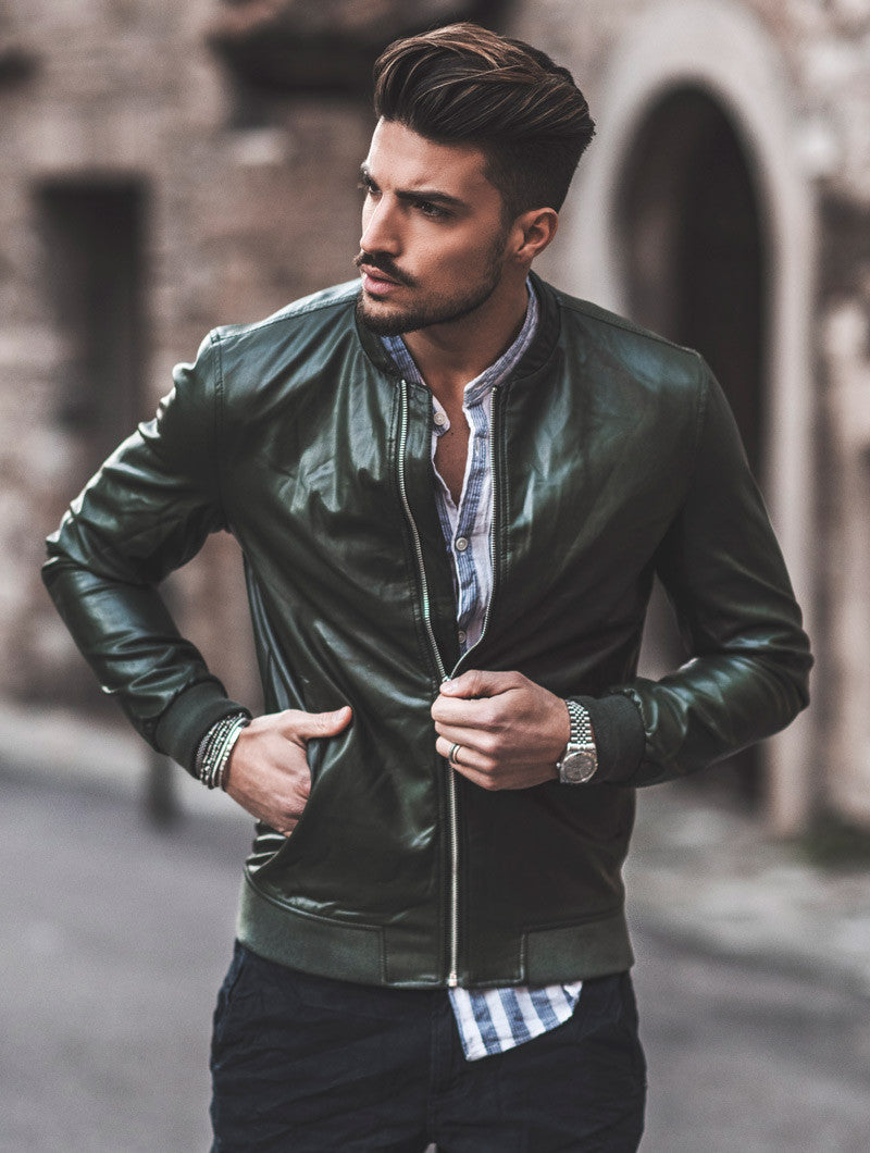 ECO LEATHER GREEN JACKET