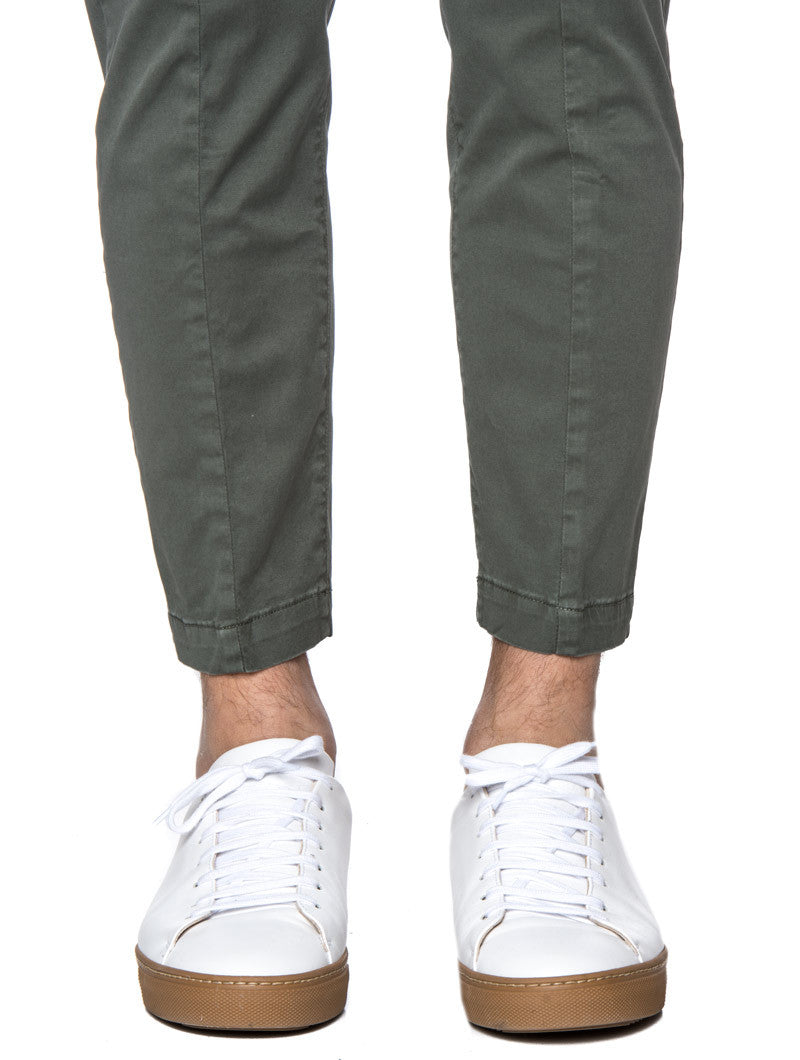 MEN'S CLOTHING | ARMY GREEN PANTS | TROUSERS | MEN'S BOTTOMS | SLIM FIT | NOHOW STREET COUTURE | NOHOW