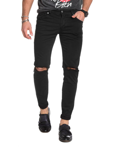 Men's Clothing | Black Ripped Jeans | destroyed | distressed | skinny | NOHOW SUMMER COLLECTION | Nohow