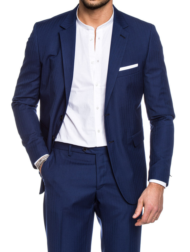 BLUE STRIPED SUIT
