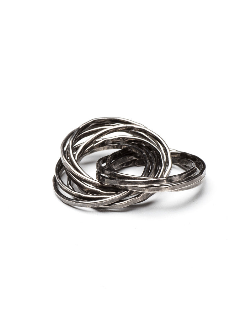 MEN'S ACCESSORIES | MILLENIUM RING | SILVER | Mariano Di Vaio Jewels | NOHOW