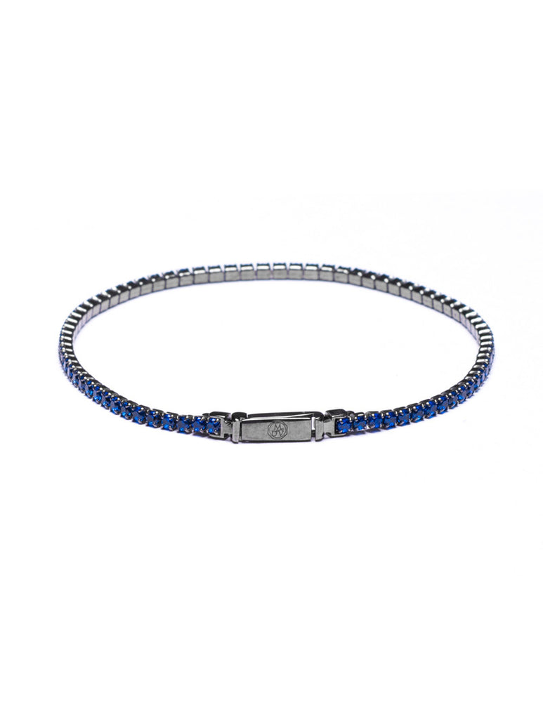 Men's Jewels | BLUE TENNIS BRACELET | SILVER AND ZIRCONS | ZIRCONIUM SILICATE | MEN'S BRACELETS | MEN'S JEWELS | MDV Jewels collection | Nohow