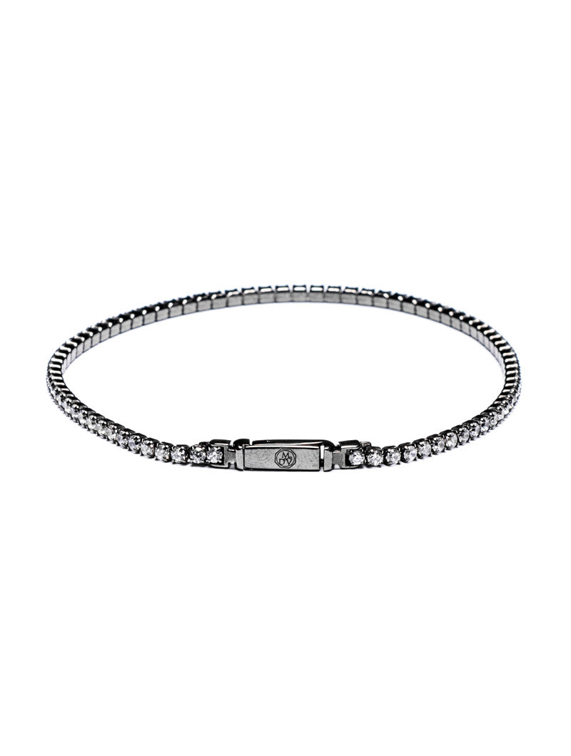 MEN'S JEWELS | WHITE TENNIS BRACELET | SILVER AND ZIRCONS | ZIRCONIUM SILICATE | MEN'S BRACELETS | MEN'S JEWELS | MDV Jewels collection | NOHOW