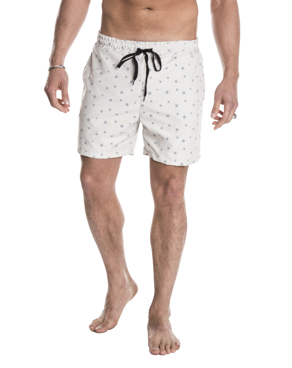 MEN'S CLOTHING | BOTTOMS | SWIMWEAR | STARS SWIM PANTS | SWIM SHORTS | TECHNICAL FABRIC | ELASTICATED DRAWSTRING WAISTBAND | MESH LINING | MID LENGTH | SIDE POCKETS | POLYESTER | #SUMMERVIBES | NOHOW