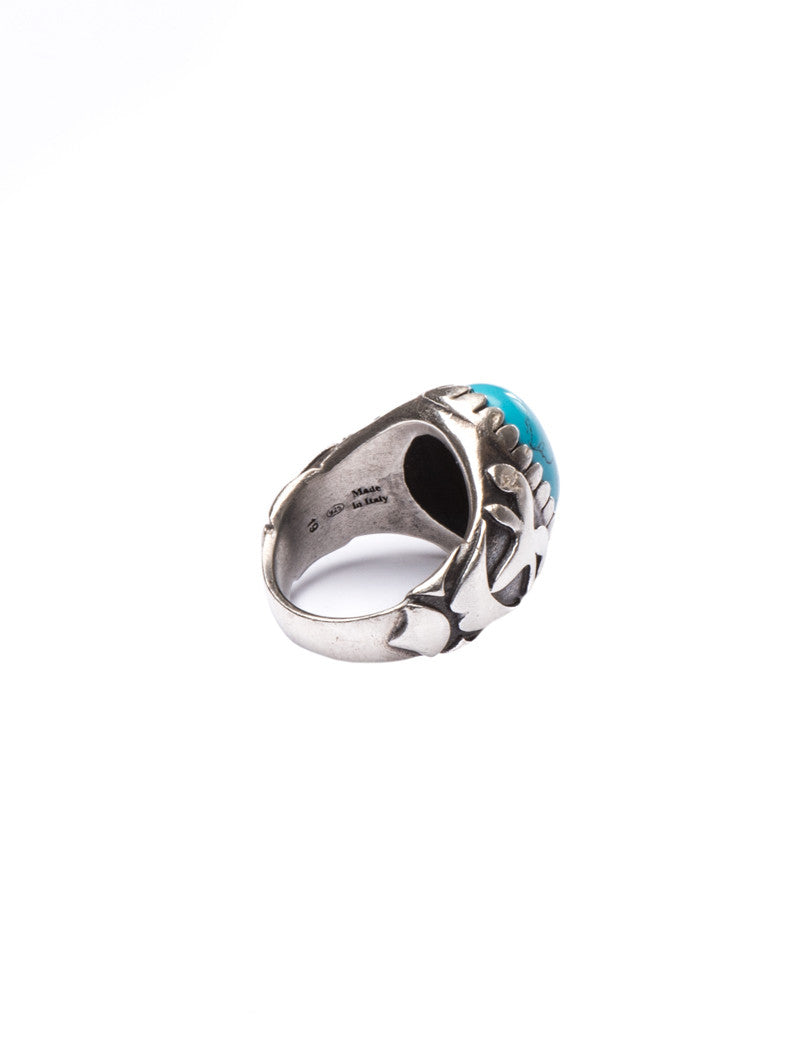 MEN'S ACCESSORIES | TURQUOISE DROGON RING | SILVER RING | TURQUOISE | Mdv Jewels | NOHOW