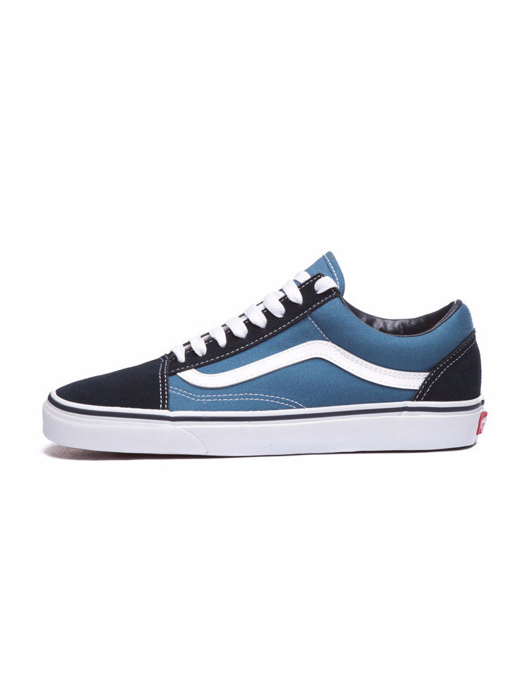 vans navy blue and black