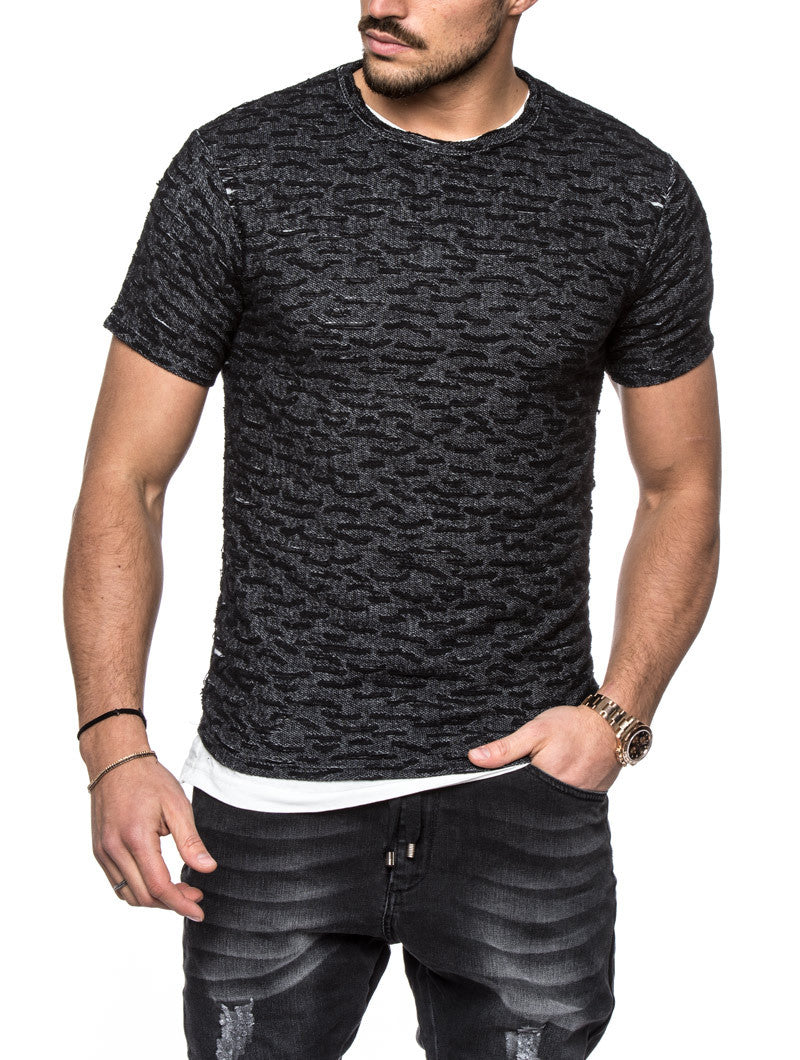 RIPPED BLACK T-SHIRT