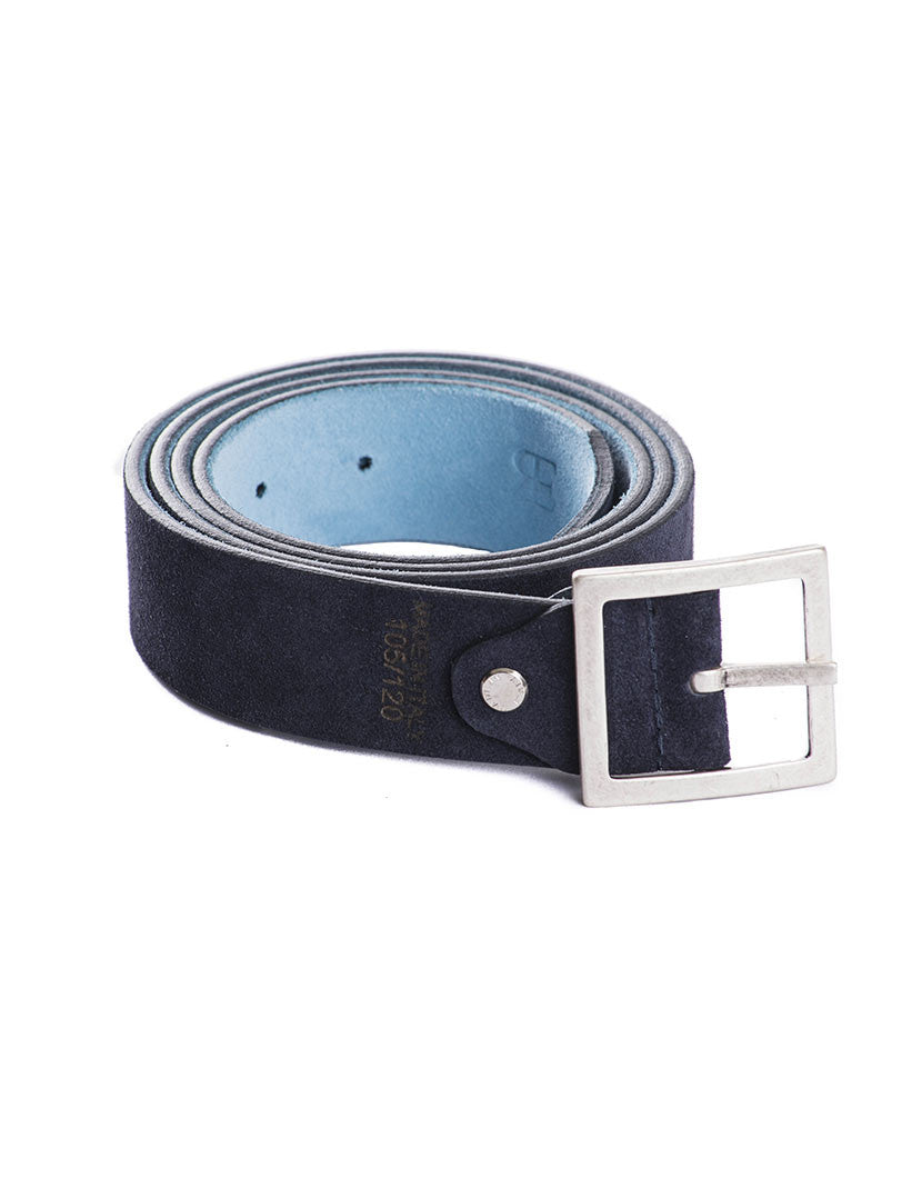 DOUBLE FACE BLUE CREAM BELT | MEN'S ACCESSORIES | NOHOW