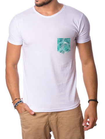 GREEN BLUES POCKET T-SHIRT