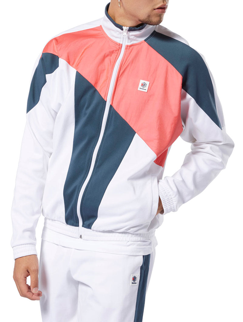 CLASSIC ADVANCES TRACK-JACKET IN WHITE