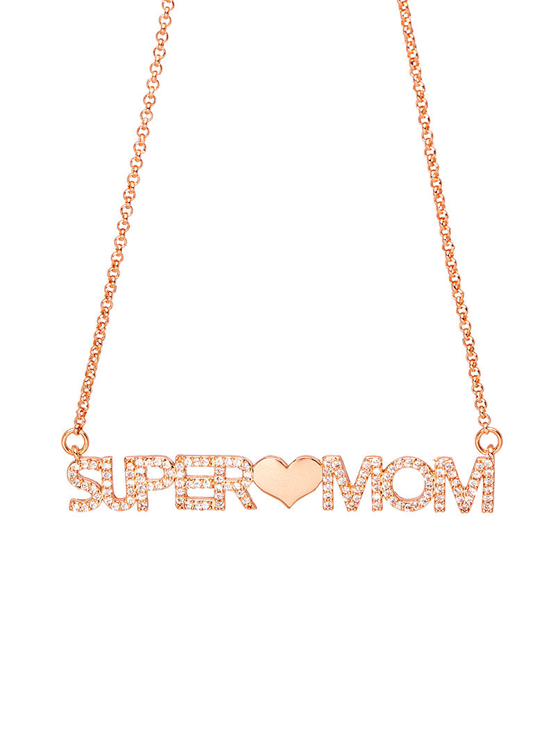 SUPER MOM CHAIN NECKLACE IN ROSE GOLD
