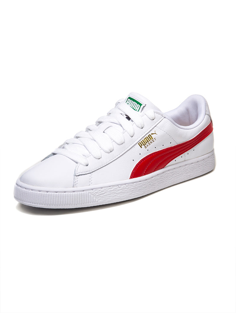 BASKET CLASSIC LFS MAN SHOES IN WHITE AND RED