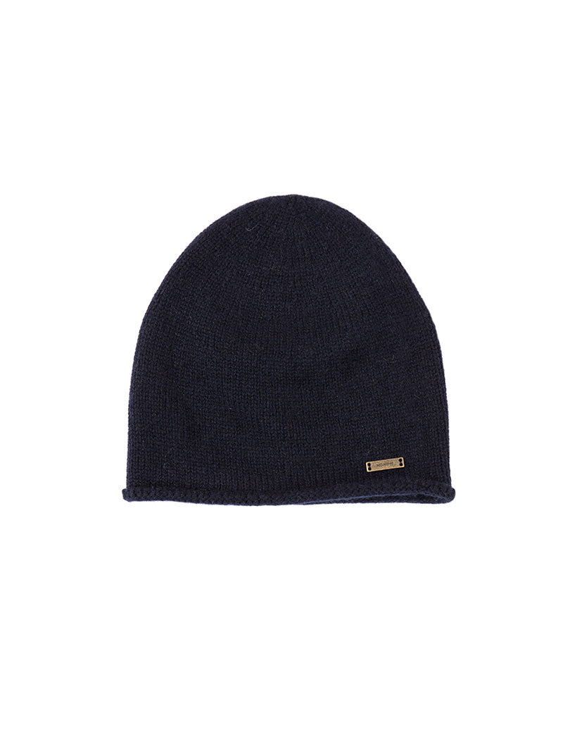APOLLO CASHMERE BEANIE HAT IN BLUE