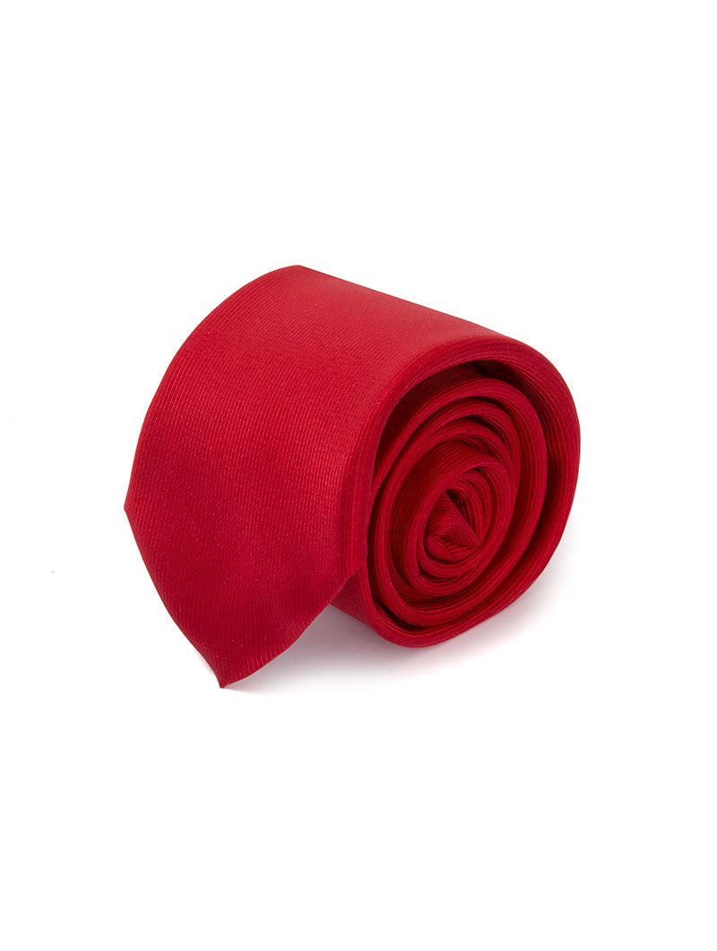 MINGARY CORDUROY SILK TIE IN RED