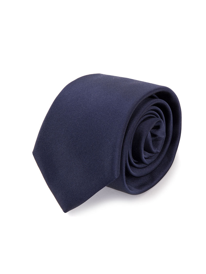 KILMORY SILK NECKTIE IN DEEP BLUE
