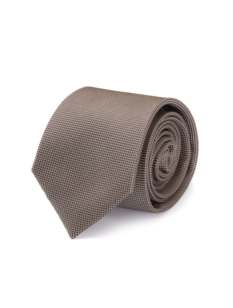 CARRICK SILK TIE IN TAUPE