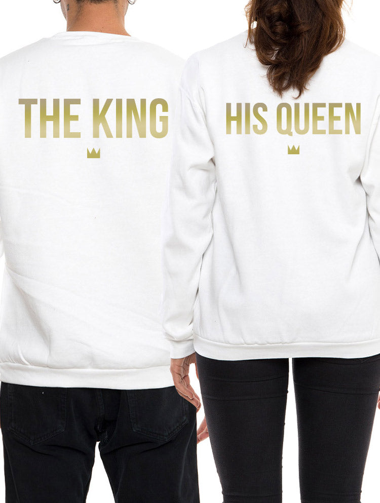 THE KING & HIS QUEEN SWEATSHIRT IN WHITE