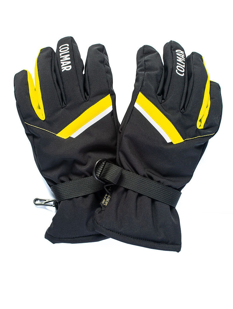 COLMAR SKI GLOVES IN BLACK AND YELLOW