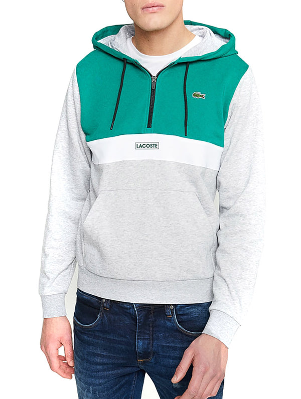 8fd04b53f8b LACOSTE HOODIE IN GREEN AND GREY