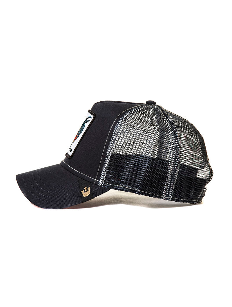 BULL CAP IN BLACK