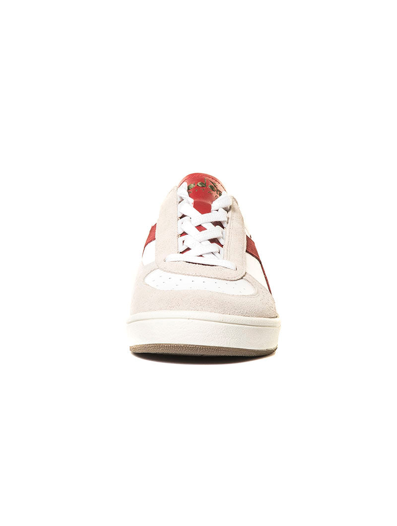 B ELITE SL SNEAKERS IN WHITE AND RED