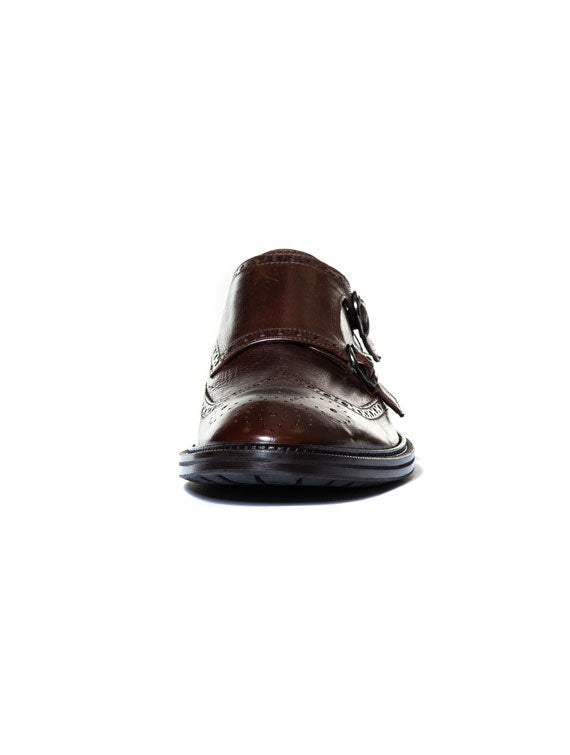 LEWIS MONK STRAP IN BROWN