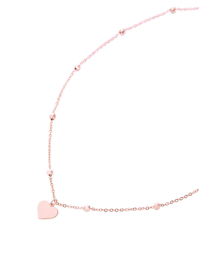 ROSIE HEART NECKLACE IN ROSE GOLD