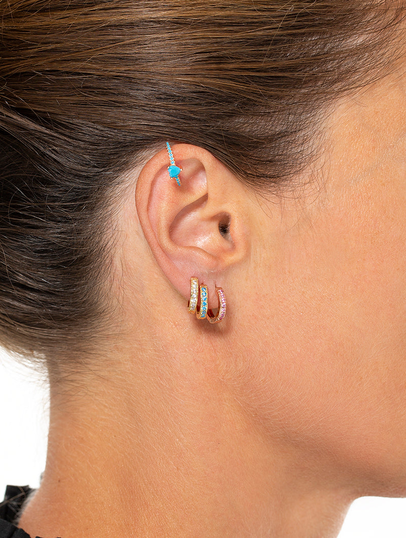 JODIE EARRING IN ROSE GOLD WITH ROSE ZIRCONS
